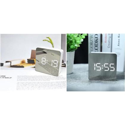 Multifunkčné zrkadlové hodiny s budíkom a teplomerom