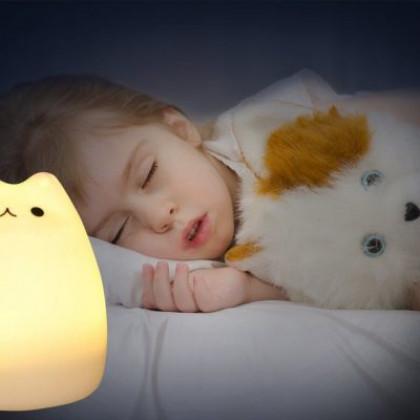 LED nočná lampa s diaľkovým ovladaním - mačka
