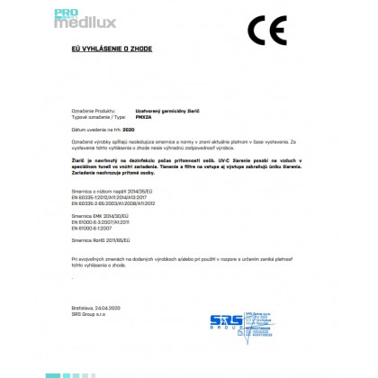 Germicídny žiarič TW220-W 220W závesný, WiFi - vhodný na verejné miesta