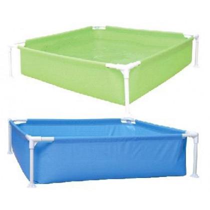 Štvorcový skladací bazén s konštrukciou