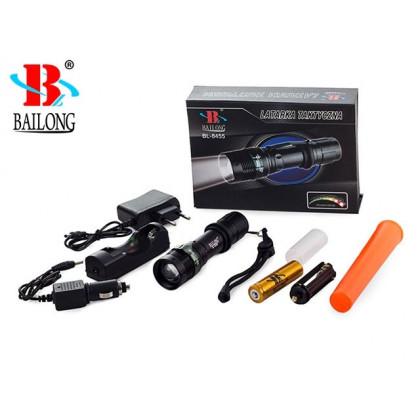 POLICE CREE LED - taktická nabíjateľná výstražná baterka + 1 akumulátor