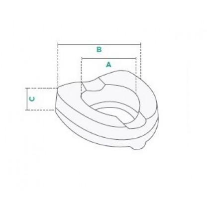 Nadstavec / zvyšovač na WC s poklopom